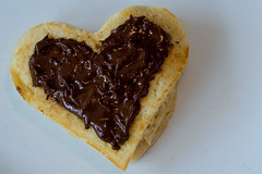 Vegan Chocolate Chip Heart Pancake (Amarand Agasi) Tags: pancakes vegan yummy melting yum heart chocolate tasty sean canoneos20d chip melt pancake melted ontop canonef100mmf28macrousm amarand theamarand