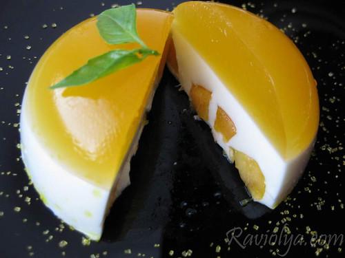 Торт из апельсинового желе