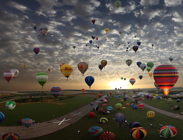 The largest hot-air balloon gathering in the world, Chambley, France. So far today, more then 270.000 views and 6.600 Faves!