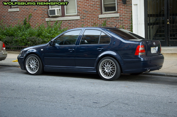 This Jetta isn't slammed,
