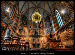 A Chapel in St Vitus Cathedral, Prague (szeke) Tags: city urban church prague interior chapel praha praga czechrepublic hdr hradany castledistrict churchinterior photomatix eskrepublika nikcolorefex specialtouch katedrlasvathovta hradany imagenomic overtheexcellence saintvitusscathedral eskrepublika daarklands