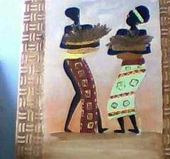 acrilicsobre tela... (A cor do acaso) Tags: ceramica cores artesanato jardim decora cor telas acrilico telha africanas senegalesa senegalesas
