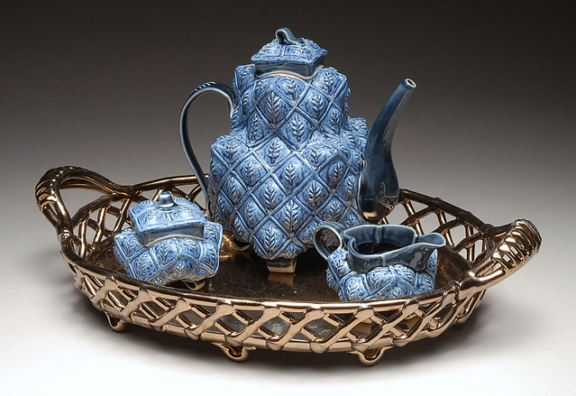 Blue Leaf Tea Set