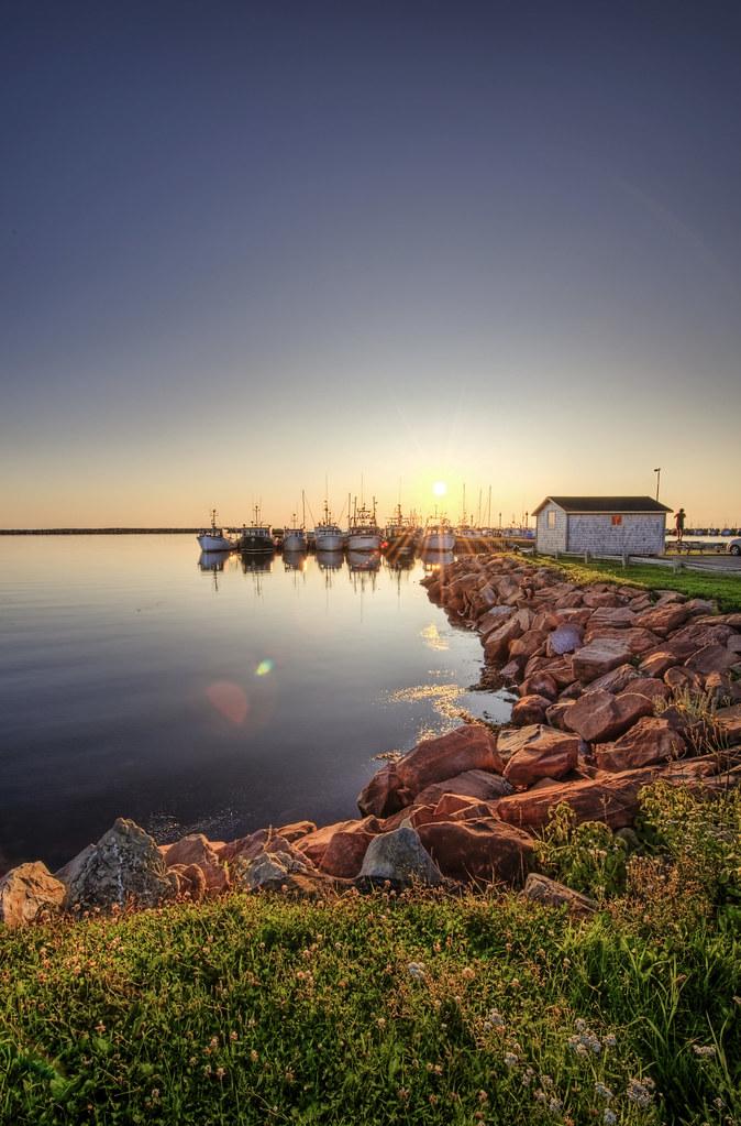 Coucher de soleil à l'Étang-du-Nord