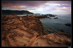 nEO_IMG_IMG_9337 (c0466art) Tags: from blue light red sea color water strange beautiful yellow clouds sunrise canon landscape coast scenery rocks view place spot seashore keelung