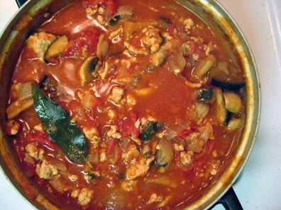 Turkey and Vegetable Pasta Sauce