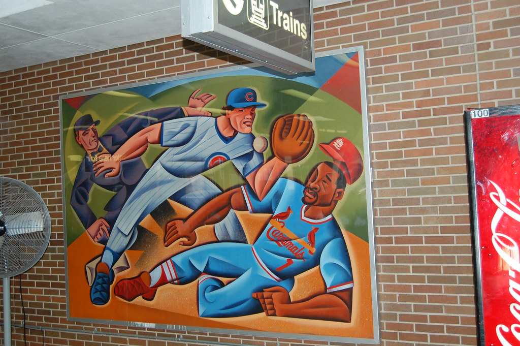 In The Addison Station, A Picture That Appears To Be Ozzie Smith.