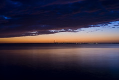 The Solent, Towards Fawley, From Lee On Solent (scalespeeder) Tags: uk longexposure sunset clouds digital canon eos 350d rebel xt dusk m42 manualfocus gosport leeonsolent hants pentacon22mm