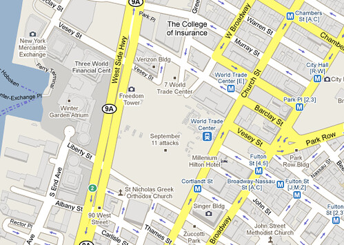 Map Of World Trade Center Before 9 11.Google To Fix September 11 Attacks Mark On Google Maps