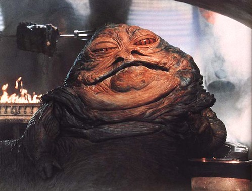 In Star Wars, fictional alien race The Hutts are a hermaphrodite species.