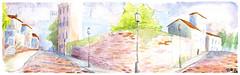 Cenrio (tcartat) Tags: street watercolor calle escenario environment rua draw acuarela dibujo cenrio desenho aquarela