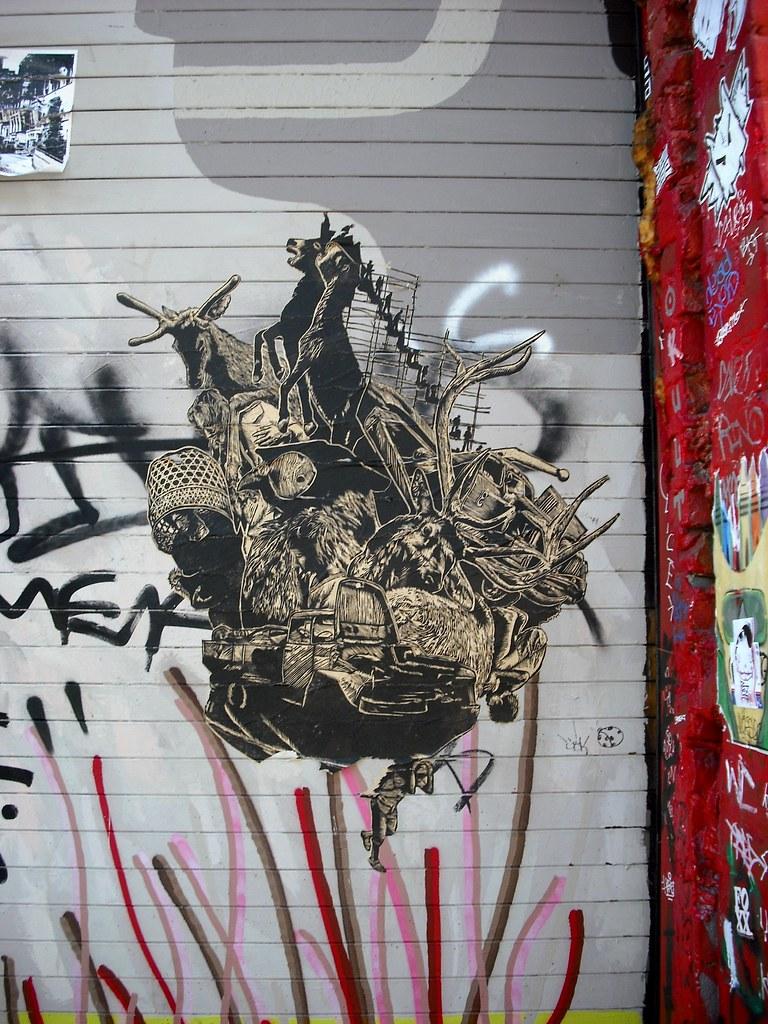 Street Art Wheatpaste San Francisco Mission, California.