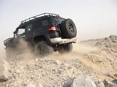 and over. (shine_on) Tags: desert offroad 4x4 toyota jeddah suv fj landcruiser saudiarabia cruiser v8  fjcruiser    bahra    feshfesh
