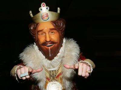 Fotografía del rey de Burger King