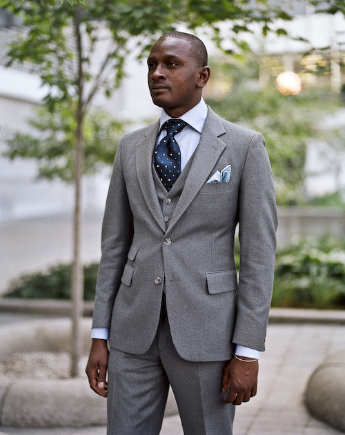 Grey Suit, Toronto Street Fashion @ Yorkville, Toronto