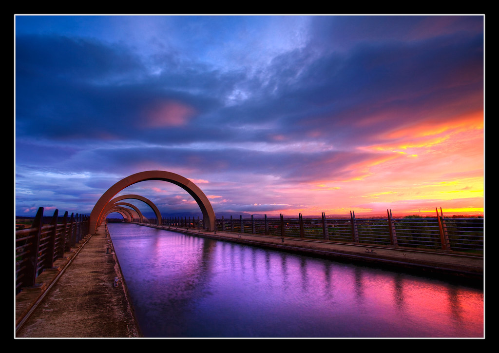 Falkirk Wheel at Sunrise