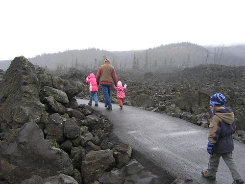 Walking through the lava fields