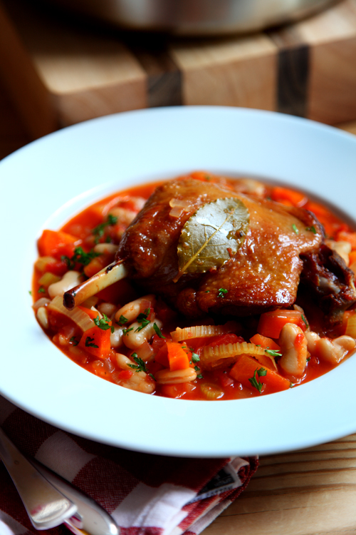 :: Duck Confit and A Tasty Bean Stew