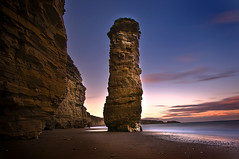 Phallic (dan barron photography - landscape work) Tags: sunset seascape rock landscape sand long exposure pebbles cliffs phallic marsden