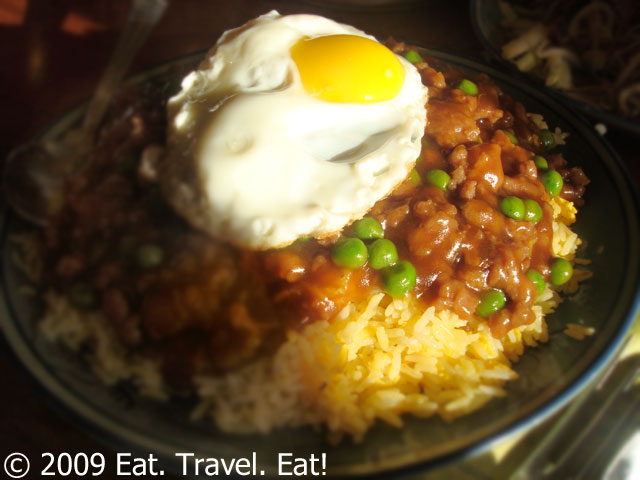 Minced Beef Rice with Egg