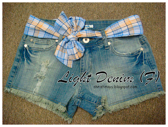 Shopping Items: Light Denim (Front)