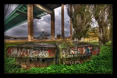 Concrete beauty (martin fredholm) Tags: bridge gteborg concrete sweden framed structure underneath rdasten smrgsbord photomatix tonemapped pseudohdr lvsborgsbron 1raw