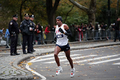 Meb Keflezighi in the 2009 NYC Marathon