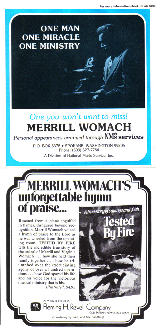Vintage Ad #953: One Man, One Miracle, One Ministry, One Book