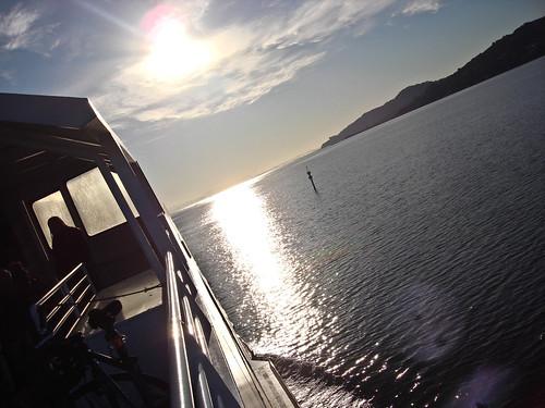 daybreak on the ferry