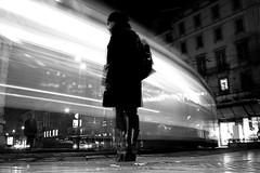 (26) - Lush Life (Donato Buccella / sibemolle) Tags: street longexposure boy blackandwhite bw italy motion blur milan girl night train milano flash streetphotography tram duomo johncoltrane canon400d longexposureflash artlibres sibemolle fotografiastradale 1020sigmatestbellissimo ineedaremotecontroltodothis freddobestiale socoldmyhandswasfrozenbrrr tramdinotte
