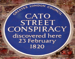 Photo of Cato Street Conspiracy blue plaque