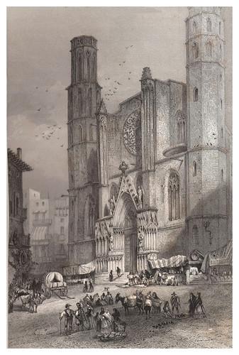 005-Barcelona-Iglesia de Santa Maria-Voyage pittoresque en Espagne et en Portugal 1852- Emile Bégin