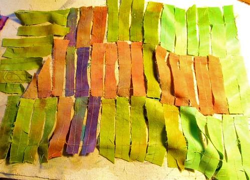 anatsui fabric strips