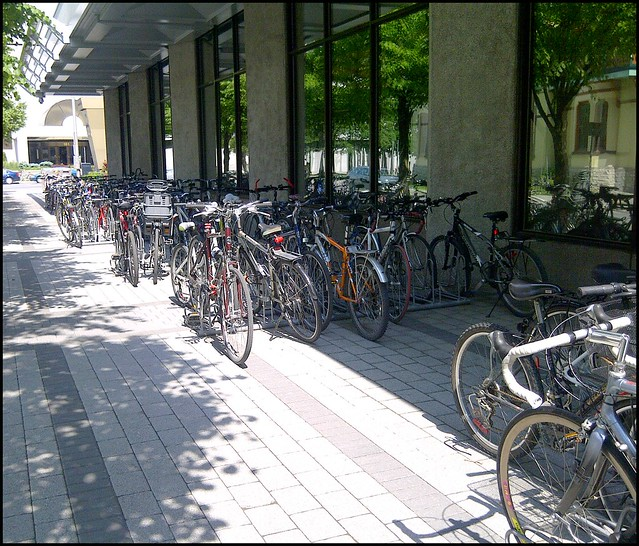 bike racks at elgin