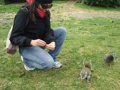 London 2009. Io e lo scoiattolino