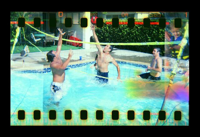 Hawaiian Style Portlock Pool Party Holga 35mm