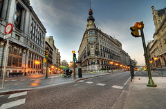 Madrid surreal (take 2) (cuellar) Tags: madrid street city urban lights luces calle spain loneliness perspective surreal ciudad urbana perspectiva soledad cinematic surrealista cuellar2009top20