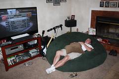 Kevin napping