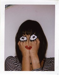 Hand Face (Luke Stephenson) Tags: girl eyes hand painted lips copy bigshot