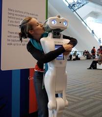Robot PDA (Petra Cross) Tags: white love skinny robot google hugging kissing petra io conference qa 2009 fembot smooching petka trevorblackwell bubli anybots googleio zaskodnik popluharova petrapopluharova tlbtlbtlb googledeveloperconference petracross