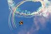 """Fruit Loops"" - US Army Golden Knights Parachute Team - Smoke Show (Tim Serge) Tags: nikon usn navalairstation patuxentriver unitedstatesnavy nikond80 sigma150500mmf563 capturenx2 naspax testandevaluationfacility airexpo09"