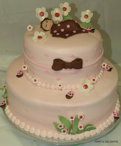 baby shower cakes for girls. Lady Bug Baby Shower Cake