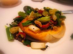 香蒜麵包加豆豉辣椒