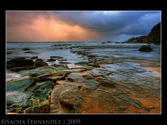 Forresters Beach The Ledge (sachman75) Tags: longexposure morning storm clouds rocks waves australia stormy coastal nsw centralcoast 1022mm hdr 3stophard forrestersbeach leefilters auselite canon40d snaptweet 9hard