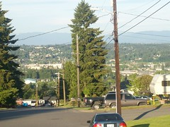 View Of kent Washington And Distant Hills (AdultSwimBumpChannel2009) Tags: seattle urban church sign washington kent
