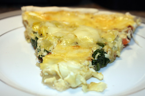 Meat-Free Fridays: Vichyssoise and Spinach and Artichoke Quiche 2