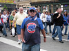 Intense Fan (dart5150) Tags: city chicago man crowd streetlife cubs streetshot cubsfan cubswon cubspriatesgame