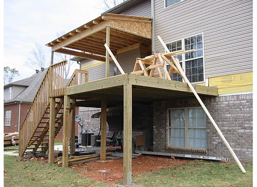 how to build a lean to roof over deck