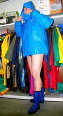 Blue Samson smock & Boots (Renjasman) Tags: boots rubber raincoat waders rubberboots rainwear pvc rainboots rainjacket southafricanrainwear
