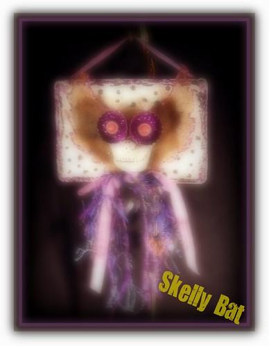 Collaged Paper Mache hallo Ornies 012